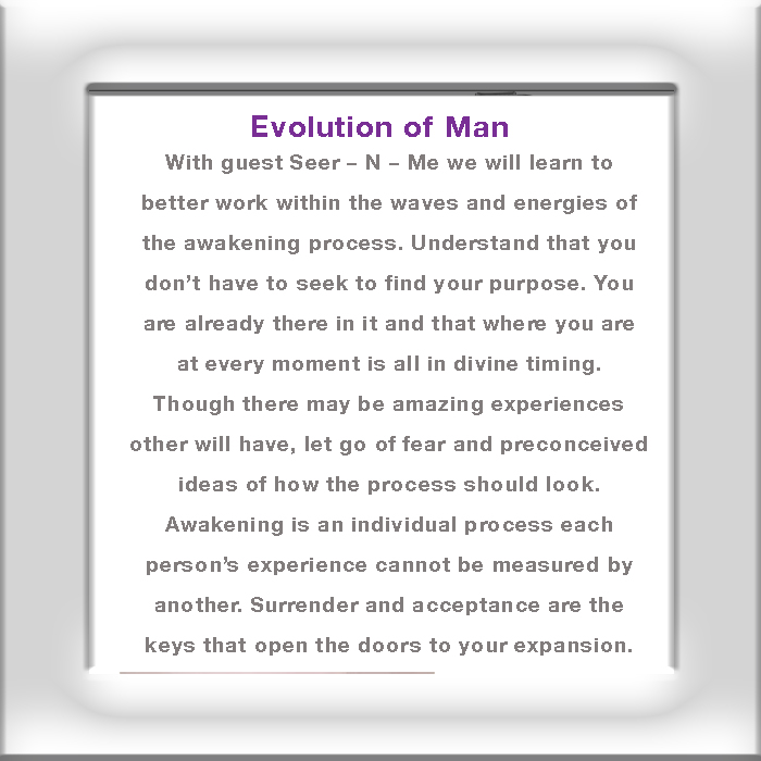 Evolution of Man – Awakening Process