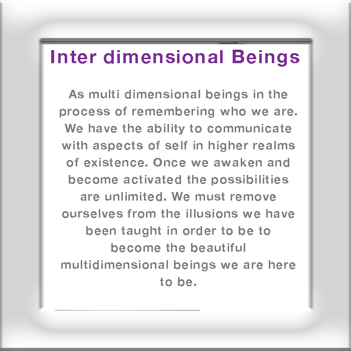 Inter Dimensional Beings